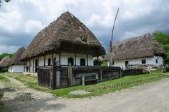 Casa típica en pueblos tradicionales - museo del aire abierto Imagen de archivo libre de regalías