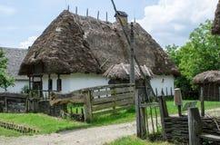 Casa típica en pueblos tradicionales - museo del aire abierto Imagen de archivo