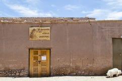 Casa típica en San Pedro de Atacama Foto de archivo