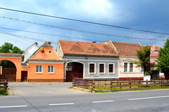 Casa típica en Vulcan, Transilvania Imagen de archivo libre de regalías