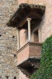 Casa típica. Grazzano Visconti. Emilia-Romagna. Itália. Fotografia de Stock