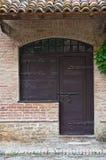 Casa típica. Grazzano Visconti. Emilia-Romagna. Itália. Imagens de Stock Royalty Free