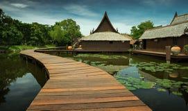 Casa tailandesa típica Fotografia de Stock Royalty Free