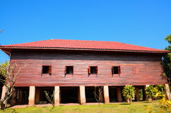 Casa tailandesa usada da madeira Foto de Stock