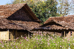 Casa tailandesa vieja, Lanna Style Imagen de archivo libre de regalías