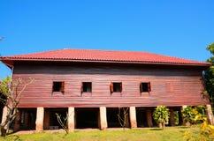 Casa tailandese usata da legno Fotografia Stock