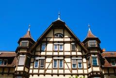 Casa tedesca medioevale tradizionale Fotografia Stock Libera da Diritti