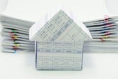 A casa tem o original da sobrecarga da pilha do relatório Imagem de Stock Royalty Free