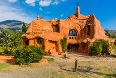 Casa Terracota dom Willa De Leyva Boyaca Kolumbia Obraz Royalty Free
