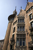 Casa Terrades, Barcelona Spain. Casa Terrades in Barcelona, Spain.  This house is also known as the needle houseor the house of spikes because of its towers and Stock Photos