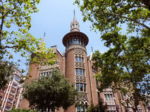 Casa Terrades in Barcelona, Spain Royalty Free Stock Photography