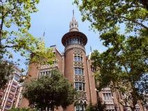 Casa Terrades in Barcelona, Spanje royalty-vrije stock fotografie