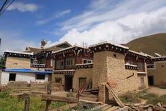 Casa tibetana Immagine Stock Libera da Diritti