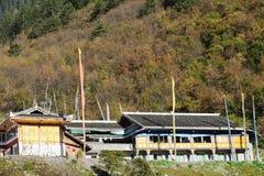 Casa tibetana fotografia stock