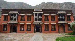 Casa tibetana del estilo (Gannan) Fotografía de archivo
