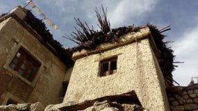 Casa tibetana nazionale antica immagine stock