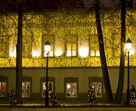 Casa, tiempo de la Navidad Imagenes de archivo