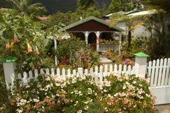 Casa tipica all'inferno Bourg su Reunion Island immagine stock