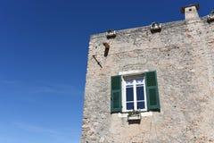 Casa tipica della città storico di Borgio Verezzi, piccolo e della L Fotografie Stock Libere da Diritti
