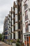 Casa tipica della pietra del mattone di Amsterdam Fotografia Stock