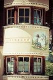 Casa tipica delle dolomia - montagne italiane - Europa Immagini Stock Libere da Diritti