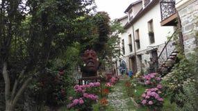 Casa tipica di un artista nel villaggio famoso di Barbizon Fotografia Stock Libera da Diritti