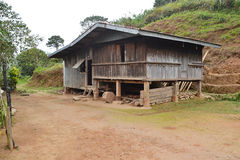 Casa tipica in Kayapa, Nueva Vizcaya Immagini Stock Libere da Diritti
