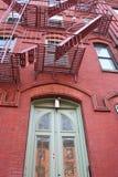 Casa tipica a New York Fotografie Stock Libere da Diritti
