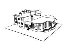 Casa: tração 3d técnica Foto de Stock