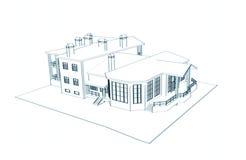 Casa: tração 3d técnica Imagens de Stock Royalty Free