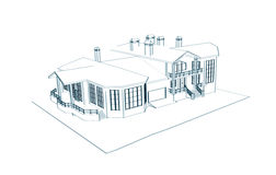 Casa: tração 3d técnica Imagens de Stock