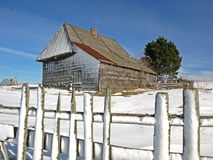 Casa tradicional da montanha Imagem de Stock