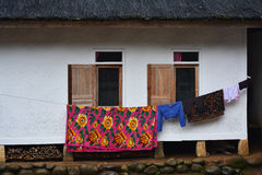 Casa tradicional da vila do Naga de Kampung Imagem de Stock