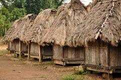 Casa tradicional de la tribu Indonesia de Manggarai Imagen de archivo