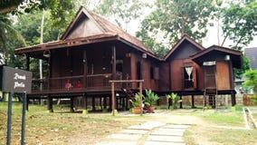 Casa tradicional de Perlis do malaio étnico Foto de Stock Royalty Free