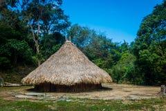 Casa tradicional de povos de Kogi, nativa imagem de stock