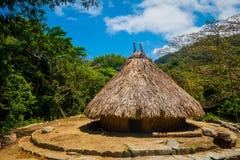 Casa tradicional de povos de Kogi, nativa fotografia de stock