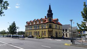 Casa tradicional de Rejkyavik Imagen de archivo libre de regalías