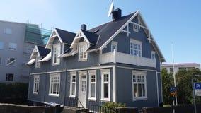 Casa tradicional de Rejkyavik Foto de archivo libre de regalías