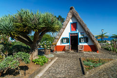 Casa tradicional de Santana fotografia de stock