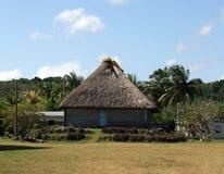 Casa tradicional del Fijian imagen de archivo