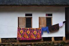 Casa tradicional del pueblo del Naga de Kampung Imagen de archivo