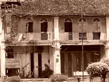 Casa tradicional del viejo de China del chino arte de Malaya Fotografía de archivo