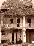 Casa tradicional del viejo de China del chino arte de Malaya Fotos de archivo libres de regalías