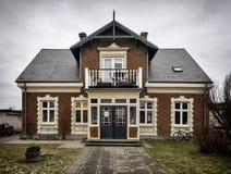 Casa tradicional em Nordby na ilha dinamarquesa Fano Foto de Stock Royalty Free