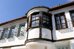 Casa tradicional en la ciudad de Xanthi Imagen de archivo libre de regalías