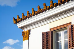 Casa tradicional griega Imágenes de archivo libres de regalías