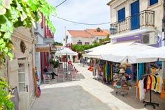 Casa tradicional na vila do ` de Fiscardo do ` da ilha de Kefalonia em G Imagens de Stock Royalty Free