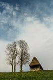 Casa tradicional sobre um monte verde Imagem de Stock Royalty Free
