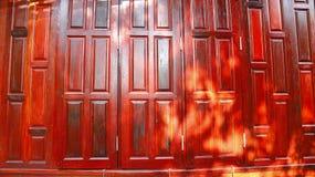 Casa tradicional tailandesa del modelo de madera de la pared Imagen de archivo